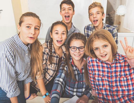 Jugendliche in einer Wohngruppe