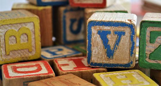 Buchstaben Bausteine